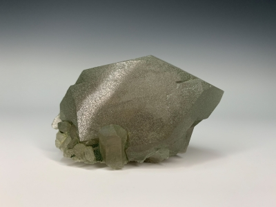 Quartz coated by Chlorite from St. Gotthard, Lepontine Alps, Ticino, Switzerland [db_pics/ZowaderUpdates/DZ0107a.jpg]