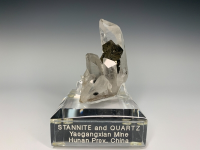 Stannite & Quartz from Yaogangxian Mine, Chenzhou Prefecture, Hunan Province, China [db_pics/ZowaderUpdates/DZ0305a.jpg]