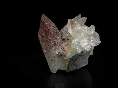 Copper included Zinc-Rich Calcite from Berg Aukus Mine, Grootfontein, Namibia [db_pics/update3/ML00013.jpg]