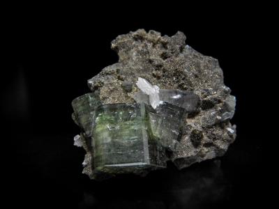 Fluorapatite, Calcite & Tourmaline from Panasqueira, Portugal [db_pics/update3/ML00024b.jpg]