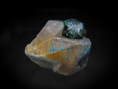 Malachite & Quartz from Otjikotu, Kaokoveld, Kunene, Namibia [db_pics/update3/ML00066b.jpg]