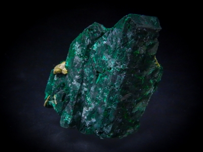 Malachite pseudo. Azurite from Tsumeb Mine, Tsumeb, Namibia [db_pics/update3/ML00096a.jpg]