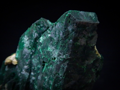 Malachite pseudo. Azurite from Tsumeb Mine, Tsumeb, Namibia [db_pics/update3/ML00096b.jpg]