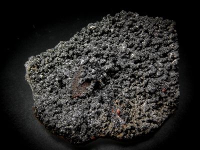 Gaudefroyite on Andradite cast of Hematite from N'Chwaning Mine, Kuruman, Cape Province, South Africa [db_pics/update4/ML00229a.jpg]