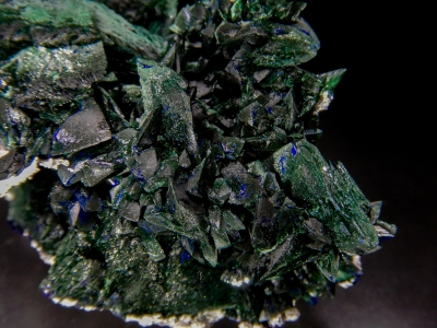 Malachite pseudo. Azurite from Milpillas Mine, Municipo de Cananea, Sonora, Mexico [db_pics/update5/ML00290b.jpg]