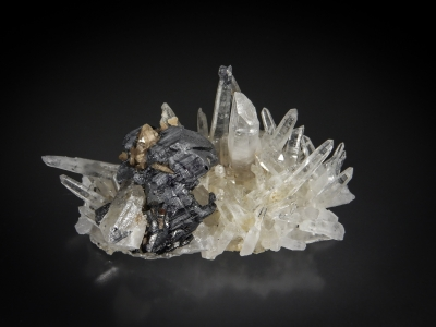 Bournonite & Quartz from Yaogangxian Mine, Chenzhou Prefecture, Hunan Province, China [db_pics/update7/ML00575a.jpg]