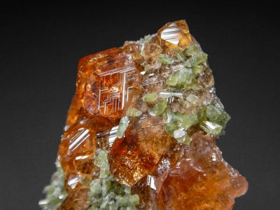 Grossular on Diopside from Jeffery Quarry, Asbestos, Quebec, Canada [db_pics/zowater/DZ2006b.jpg]