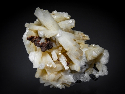 Natrolite with Rhodocrosite, Analcime & Aegirine from Mont St. Hilaire, Quebec, Canada [db_pics/zowater/DZ2909a.jpg]