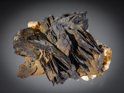 Goethite ps. after Siderite with Topaz on Albite from 2nd Mesabl Claim, Park County, Colorado [db_pics/zowater/DZ3202a.jpg]