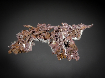 Cuprite on Copper from Bingham Canyon Mine, Salt Lake County, Utah, USA [db_pics/zowater/DZ5907a.jpg]